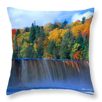 Tahquamenon Fall State Park. Inspired Throw Pillow