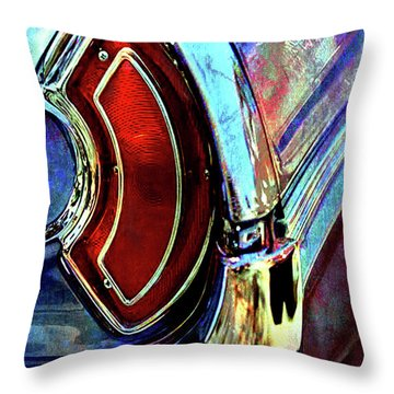 Throw Pillow featuring the digital art Tail Fender by Greg Sharpe