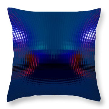 Tail Lights In The Rain Throw Pillow by Donna Blackhall