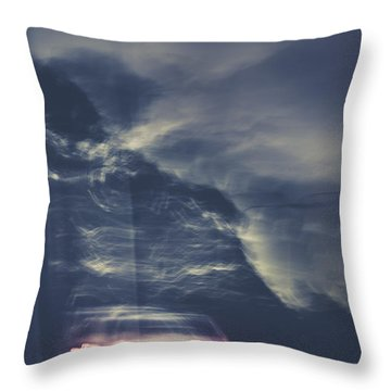 Tailing Car Trails Throw Pillow