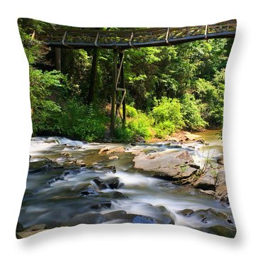 Tails Creek Throw Pillow
