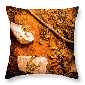 Tails From Ancient Egypt Throw Pillow