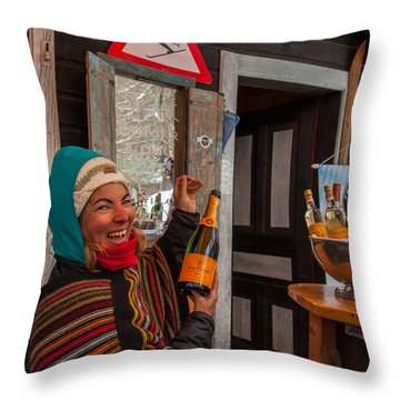 Taimi In Zermatt Switzerland Throw Pillow