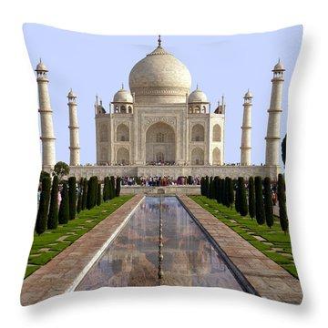 The Taj Mahal - Grand Canyon Mash-up Throw Pillow