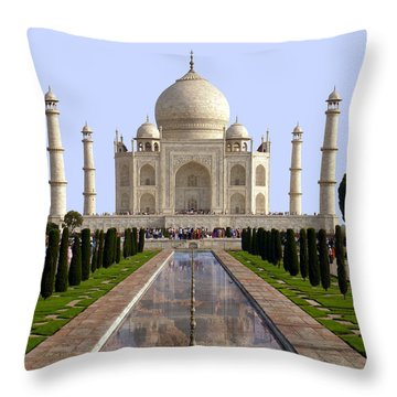 The Taj Mahal - Grand Canyon Mash-up Throw Pillow