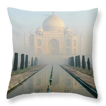 Taj Mahal At Sunrise 02 Throw Pillow