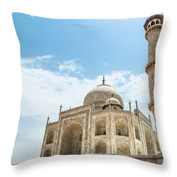 Throw Pillow featuring the photograph Taj Mahal by Chris Cousins