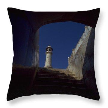 Taj Mahal Detail Throw Pillow