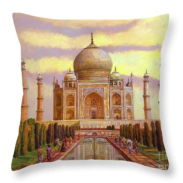 Taj Mahal Throw Pillow by Dominique Amendola