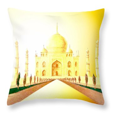 Taj  Mahal Throw Pillow by Hartmut Jager