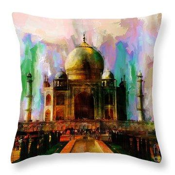 Taj Mehal 009 Throw Pillow