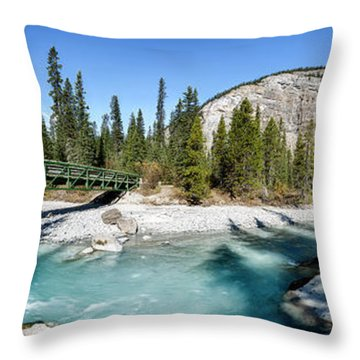 Takakkaw Falls Throw Pillow