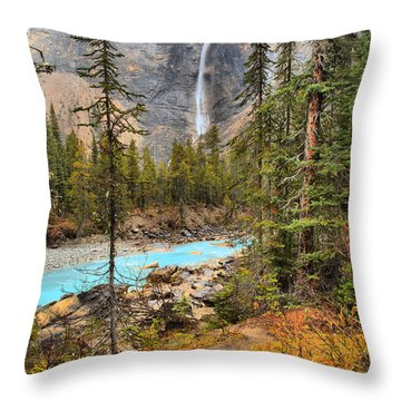 Throw Pillow featuring the photograph Takakkaw Falls Fall Portrait by Adam Jewell