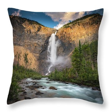 Throw Pillow featuring the photograph Takakkaw Falls Of Yoho National Park by William Lee