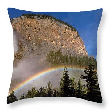 Takakkaw Falls B C Canada   Throw Pillow