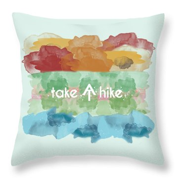 Take A Hike Appalachian Trail Throw Pillow