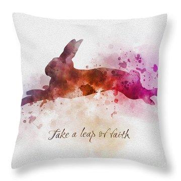 Take A Leap Of Faith Throw Pillow