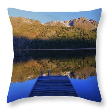 Throw Pillow featuring the photograph Take A Long Walk Off A Short Pier  by Sean Sarsfield