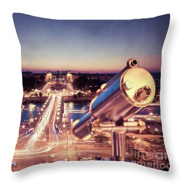Throw Pillow featuring the photograph Take A Look At Paris by Hannes Cmarits