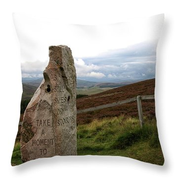 Throw Pillow featuring the photograph Take A Moment by Rasma Bertz