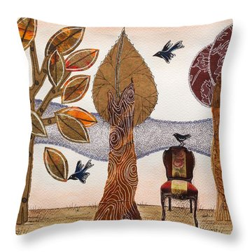 Take A Rest In Autumn Throw Pillow