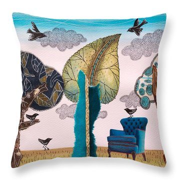 Take A Rest In Spring Throw Pillow