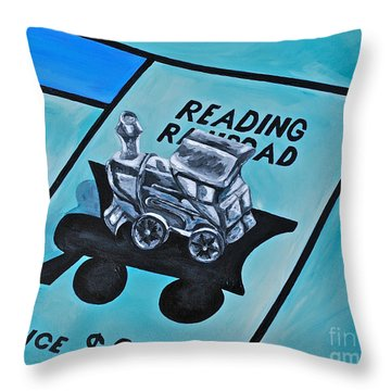 Take A Ride On The Reading  Throw Pillow by Herschel Fall