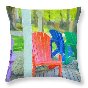 Take A Seat But Don't Take A Chair Throw Pillow