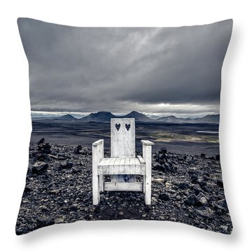 Throw Pillow featuring the photograph Take A Seat Iceland by Edward Fielding