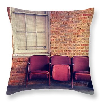 Throw Pillow featuring the photograph Take A Seat by Trish Mistric