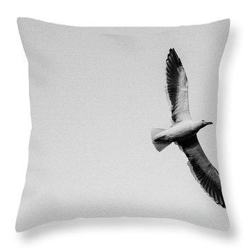 Take Flight, Black And White Throw Pillow