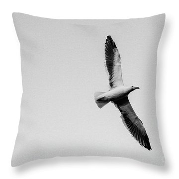 Take Flight, Black And White Throw Pillow