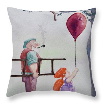 Throw Pillow featuring the painting Take It Please by Geni Gorani