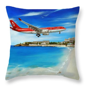 Take Me To Sxm Throw Pillow