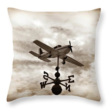 Take Me To The Pilot Throw Pillow by Bill Cannon