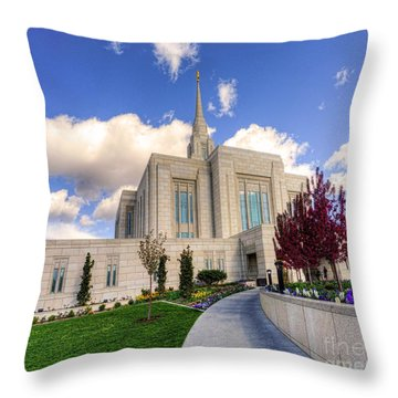 Take Me To The Temple Throw Pillow