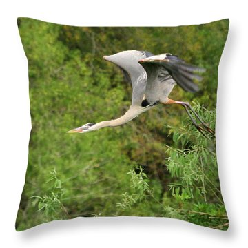 Throw Pillow featuring the photograph Take Off by Shari Jardina