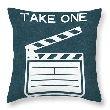 Take One- Art By Linda Woods Throw Pillow