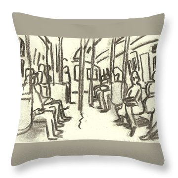 Take The A Train, Nyc Throw Pillow