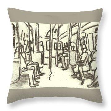 Take The A Train, Nyc Throw Pillow