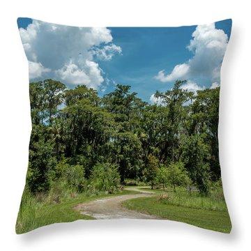 Take The Path Less Traveled Throw Pillow