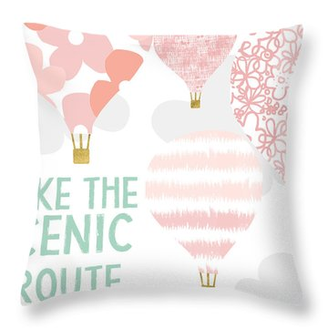 Hot Air Balloon Throw Pillows