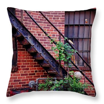Take The Stairs Throw Pillow