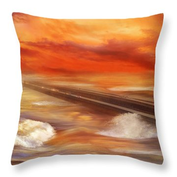 Take The Weather With You Throw Pillow