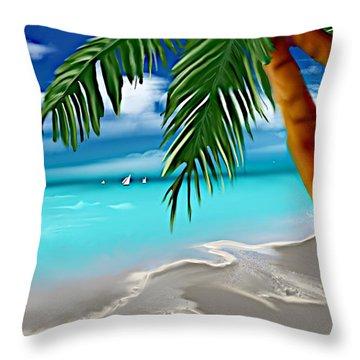Takemeaway Beach Throw Pillow