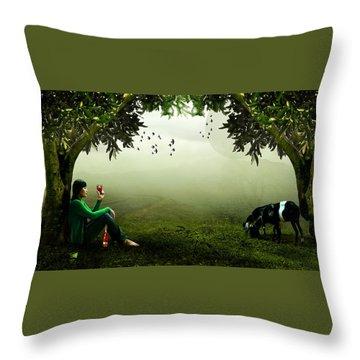 Taking A Break Throw Pillow by Ericamaxine Price