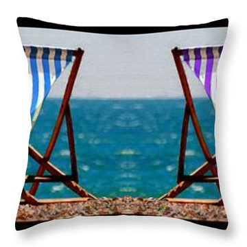 Taking A Dip Throw Pillow by Bruce Nutting
