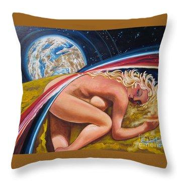 Moonresting Goddess Odins Wife   Throw Pillow
