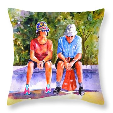 Taking A Rest - 2 Throw Pillow