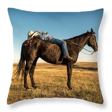 Taking A Snooze Throw Pillow